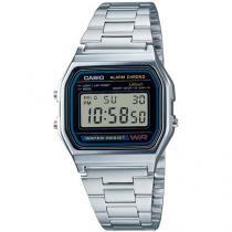 Relógio Unissex Casio Digital Resistente à Água - A158WA-1DF Prata