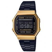 Relógio Unissex Casio Digital Vintage - A168WEGB-1BDF Preta