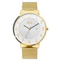 Relógio unissex dumont du2115aaf/4b dourado -