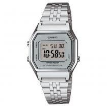01b8b6549f0 Relógio Unissex Vintage La680wa-7df Prata Digital - Casio -
