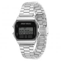 Relógio Unissex Vintage Mormaii Digital MOJH02AA/3P - Prata - Único - Mormaii