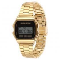 Relógio Unissex Vintage Mormaii Digital MOJH02AB/4P - Dourado - Único -