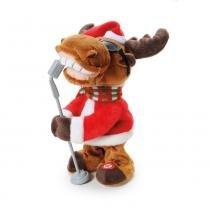 Rena Musical Decoração Natal Colorido - Cromus