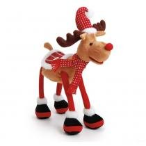 Rena Musical Decoração Natal Vermelha - Cromus