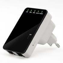 Repetidor Digital E Roteador De Sinal 300mbps Wifi Wireless - Black n
