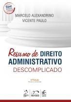 Resumo de Direito Administrativo Descomplicado - 11ª Edição (2018) - Método