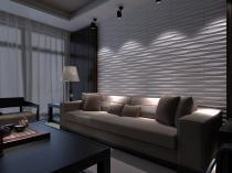 Revestimento 3D Board Placas 3d Alto Relevo - Brandy 50x50cm Fibra de Bambu Original - Innovarte3d