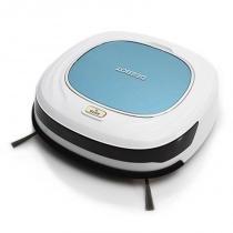 Robô Limpador Ecovacs Deebot D45 Sensores Anti-Queda e Anti-Colisão Branco e Azul -