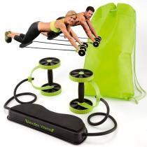 Roda para exercício abdominal elastico bolsa Revoflex Xtreme CBR03075 - Adventure brasil