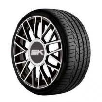 Roda Shock SK18 aro 15x6 4x100/108 preta com diamantado jogo -