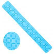 Rolinho Artístico para Massas Blue Star com 15x2x2 cm Azul - Ref. 64040 (Casquinha de sorvete) -