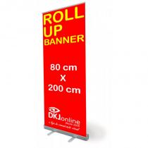 Roll up - porta banner de alto padrão em alumínio 80 x 200 cm - Importação dkj.online