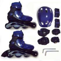 Roller kit radical belsports azul tamanho p - Belfix