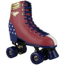 Roller patins 4 rodas retro mulher maravilha tam 35 belfix 603500 - Belfix
