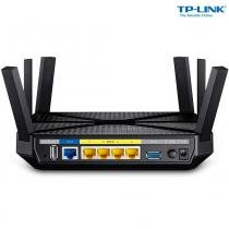 Roteador tp-link archer c3200 ac3200 6 antenas smart connect  preto - Tp-link