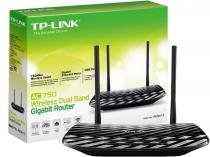 Roteador Wireless Dual Band AC750 TPLINK Gigabit 433 + 300Mbps -