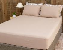 Roupa de cama conjunto castanho avelã - Pertutty soft