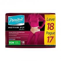 Roupa intima plenitud active fit fem c/18 p/m -