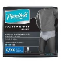 Roupa Íntima Plenitud Active Masculino G/XG Com 8 Unidades - Plenitude
