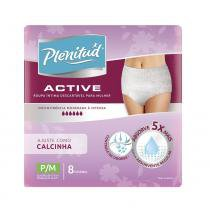 Roupa intima plenitud active mulher p/m 8 unidades - Plenitud
