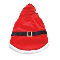 Roupa Para Cachorro Gato Papai Noel Pequeno Vermelha - Cromus