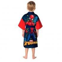 Roupão infantil aveludado homem-aranha spider lepper - Lepper