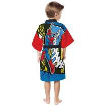 Roupão Infantil M - Lepper Spider-Man Quimono