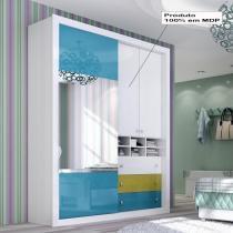 Roupeiro 3 Portas Angra Glass Sem Cantoneira - Panan