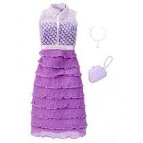 Roupinha para boneca barbie look completo vestido lilas mattel fct22/fct34 - Mattel