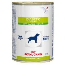 Royal Canin Canine Lata Veterinary Diet Diabetic Especial Low Carbohidrate para Cães Adultos-410g -