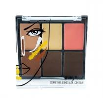 Ruby rose corretivo contour 6x cores medium hb-8088 -