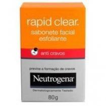 Sabonete esfoliante facial neutrogena rapid clear - 80g - Neutrogena