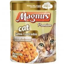 Sache Magnus Cat Frango ao Molho para Gatos Castrados -
