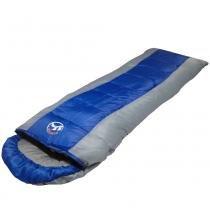 Saco de dormir -5c à +10ºc poliéster estilo casal cbr01033 ziper direito azul - Adventure brasil