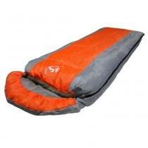 Saco de dormir -5c à +10ºc poliéster estilo casal cbr01033 ziper esquerdo laranja - Adventure brasil