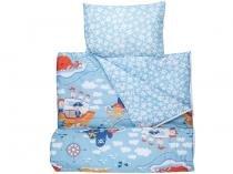 Saco de Dormir Infantil com Travesseiro - Abertura em Zíper Santista Baby SAINFSDDB1PIRATA