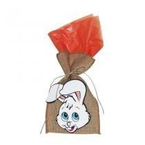 Saco de Juta para Lembrancinha Coelhinho da Páscoa - Festa box