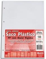 Saco Plástico Chies - 4 furos - espessura média - Cristal Liso - 100 unidades 1415-8 -