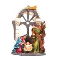 Sagrada Família 13cm Nascimento Santini Christmas -