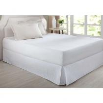 Saia Box King Matelada Retângulo Branco Home DesingCorttex - Corttex