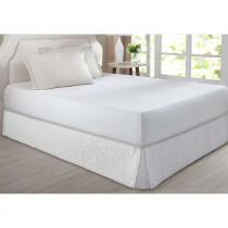 Saia Box Queen Matelada Floral Branco Home DesingCorttex - Corttex