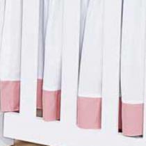 Saia de Berço Belle Rosé 200 Fios - Batistela Baby -