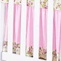 Saia de Berço Butterfly Rosa 100 Algodão - Batistela Baby - Batistela