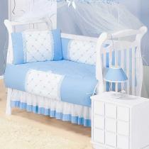 Saia de Berço Classic Azul 80 Algodão - Batistela Baby - Batistela