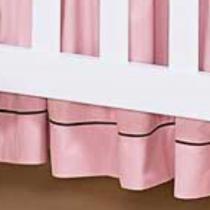 Saia de Berço Fleur Rosé 100 Algodão - Batistela Baby - Casatema