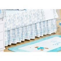 Saia de berço Ninos Branco/Azul - Batistela Baby - CasaTema