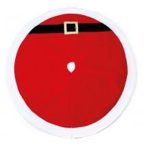Saia P/ Base Pé Da Árvore De Natal Papai Noel 124Cm Vermelha - Cromus