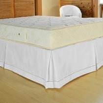 Saia para Box Solteiro Ponto Palito Casaborda 223cmx156cm Branco -