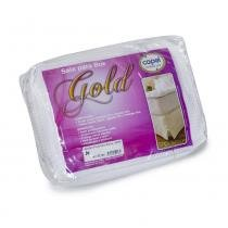 Saia para Cama Box KING SIZE Gold Palito Pequit Branca - 193x203 - Bela