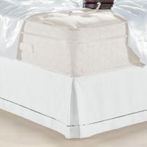 Saia Para Cama Box Queen Ponto Palito Branca Classic - Juma - Juma Enxovais